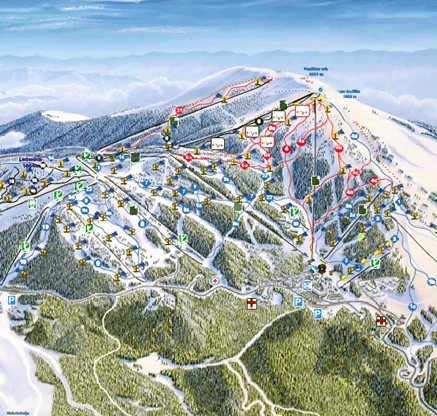 Kopaonik - Ski resort map